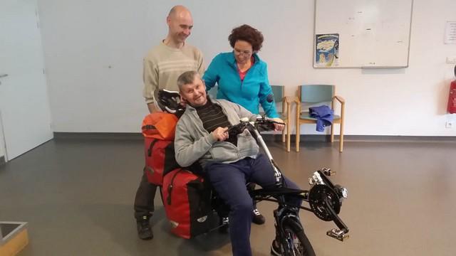 Jean-Jacques essaie le vélo !