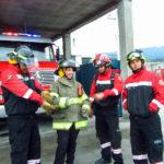 Les pompiers à Pujili