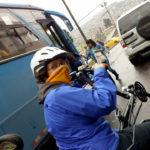 Coco à vélo dans Quito