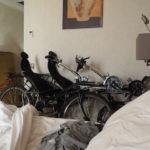 On dort avec nos vélos !