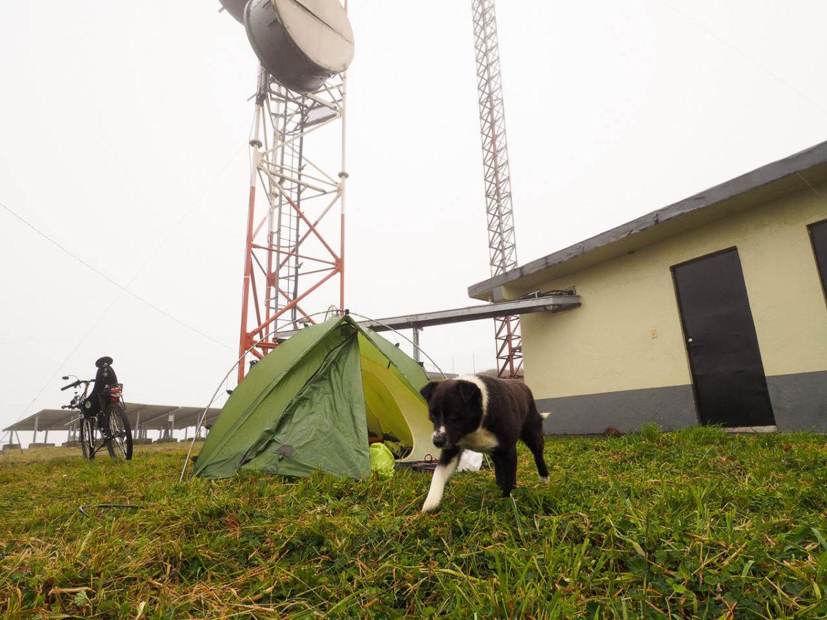 Bivouac au centre de communication militaire, avec Rufo