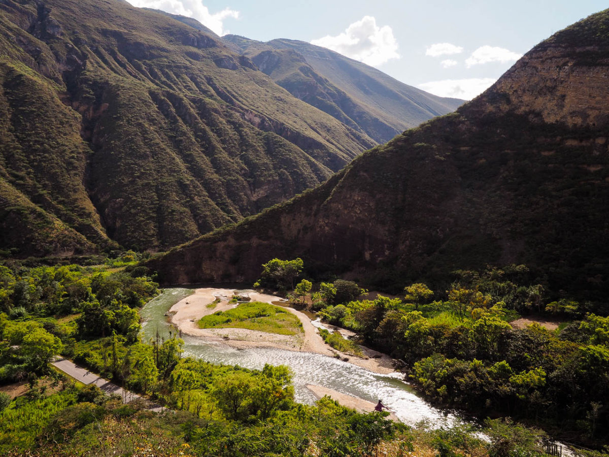 En contre bas de Tingo, rio Utcubamba