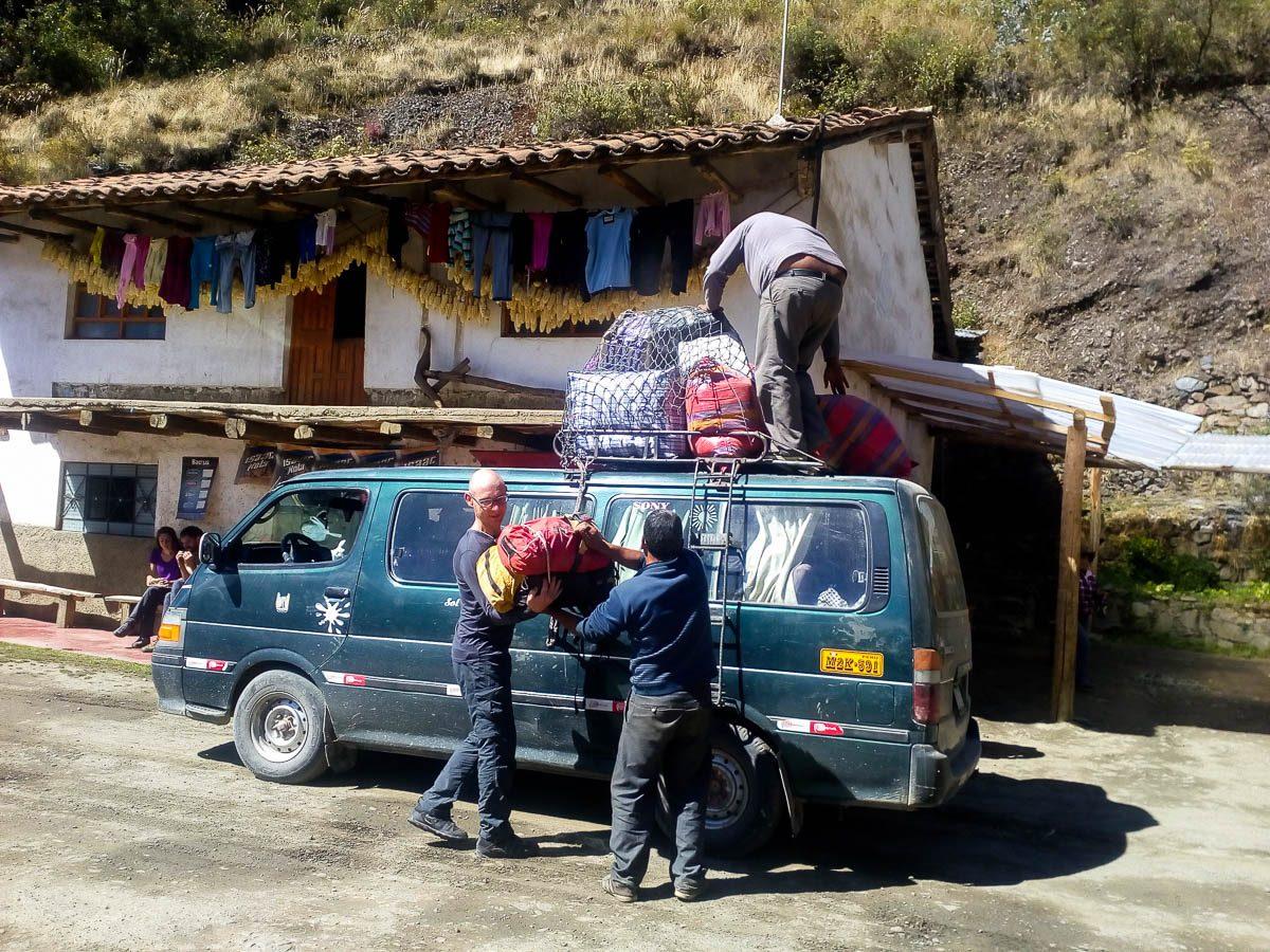 Arrivée à Valqueria en collectivo