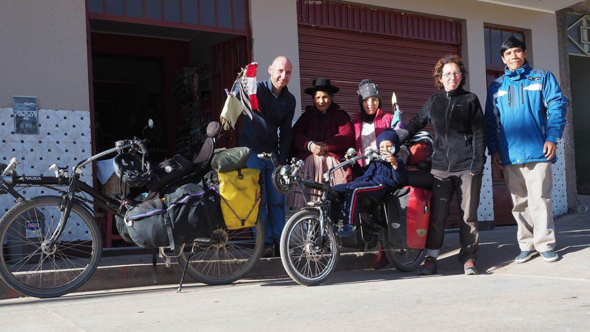 Avec Hugo et sa famille