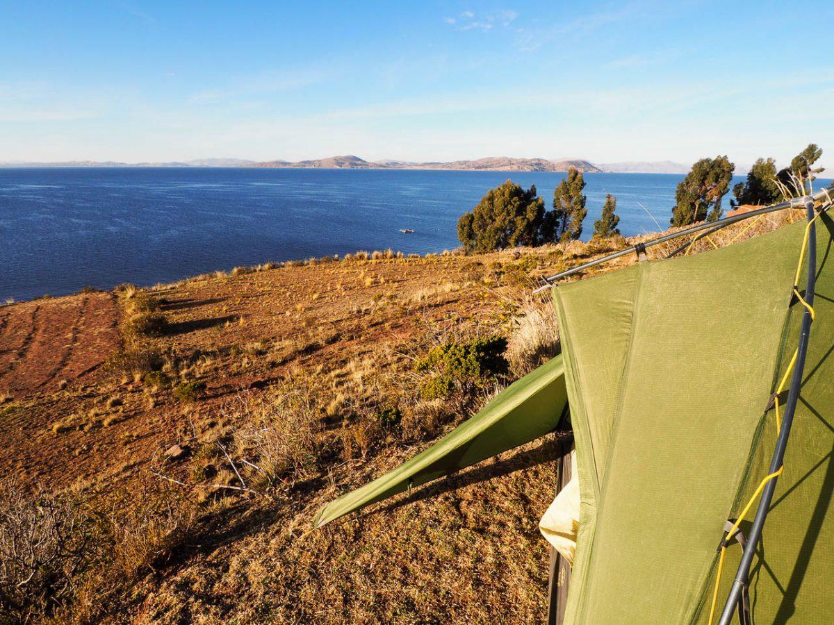 Bivouac sur la péninsule Capachica