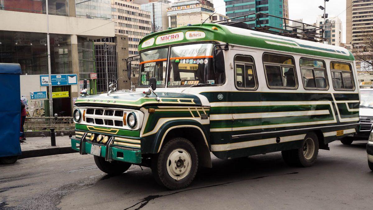 Les vieux bus de La Paz