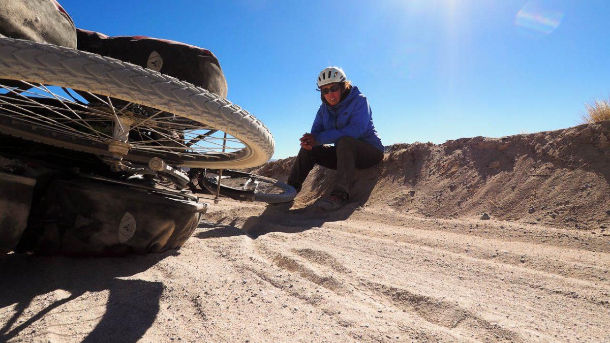 Marre du sable. A ce moment-là les pneus ne sont pas sous-gonfl