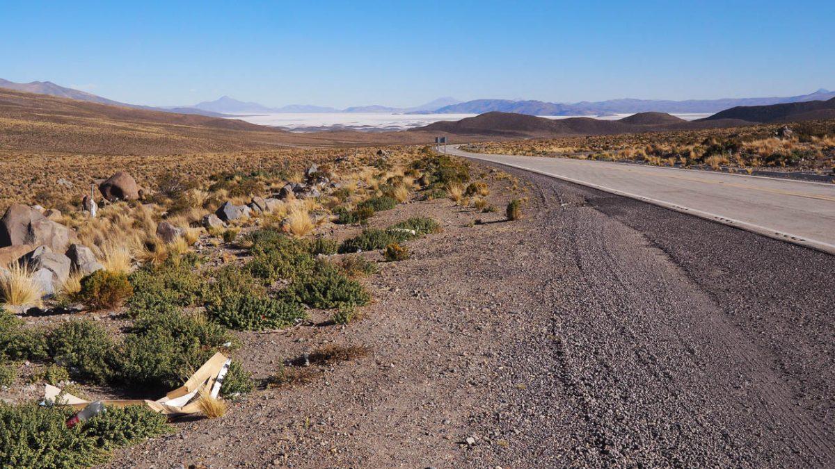 La route qui nous conduit vers Uyuni