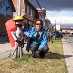 Poubelles originales à Puerto Natales